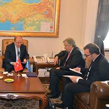 İçişleri Bakanı Sayın Sebahattin Öztürk ile BM Mülteciler Yüksek Komiseri Arasındaki Görüşmede Tercüme Hizmeti Sunduk