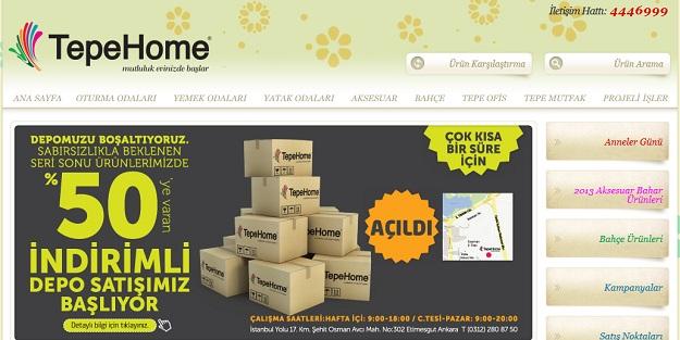 tepe home web sitesi